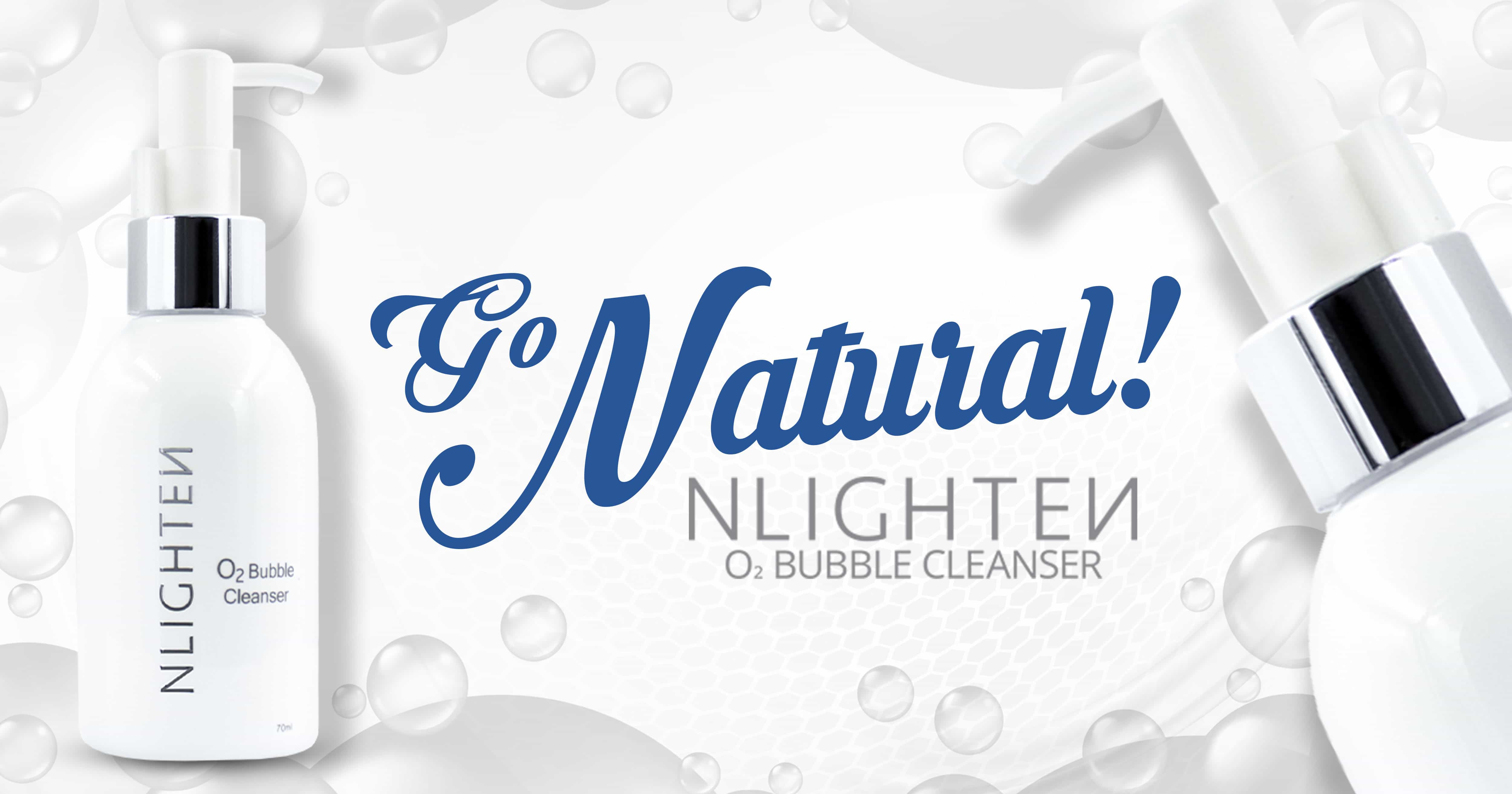 Go Natural! NLIGHTEN O2 Bubble Cleanser