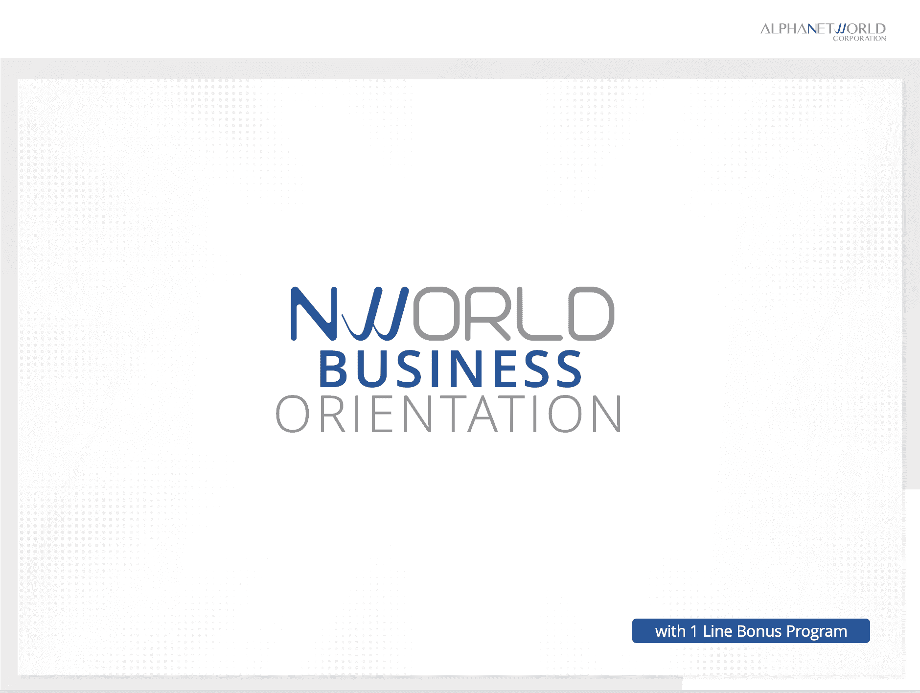 NWORLD BUSINESS ORIENTATION