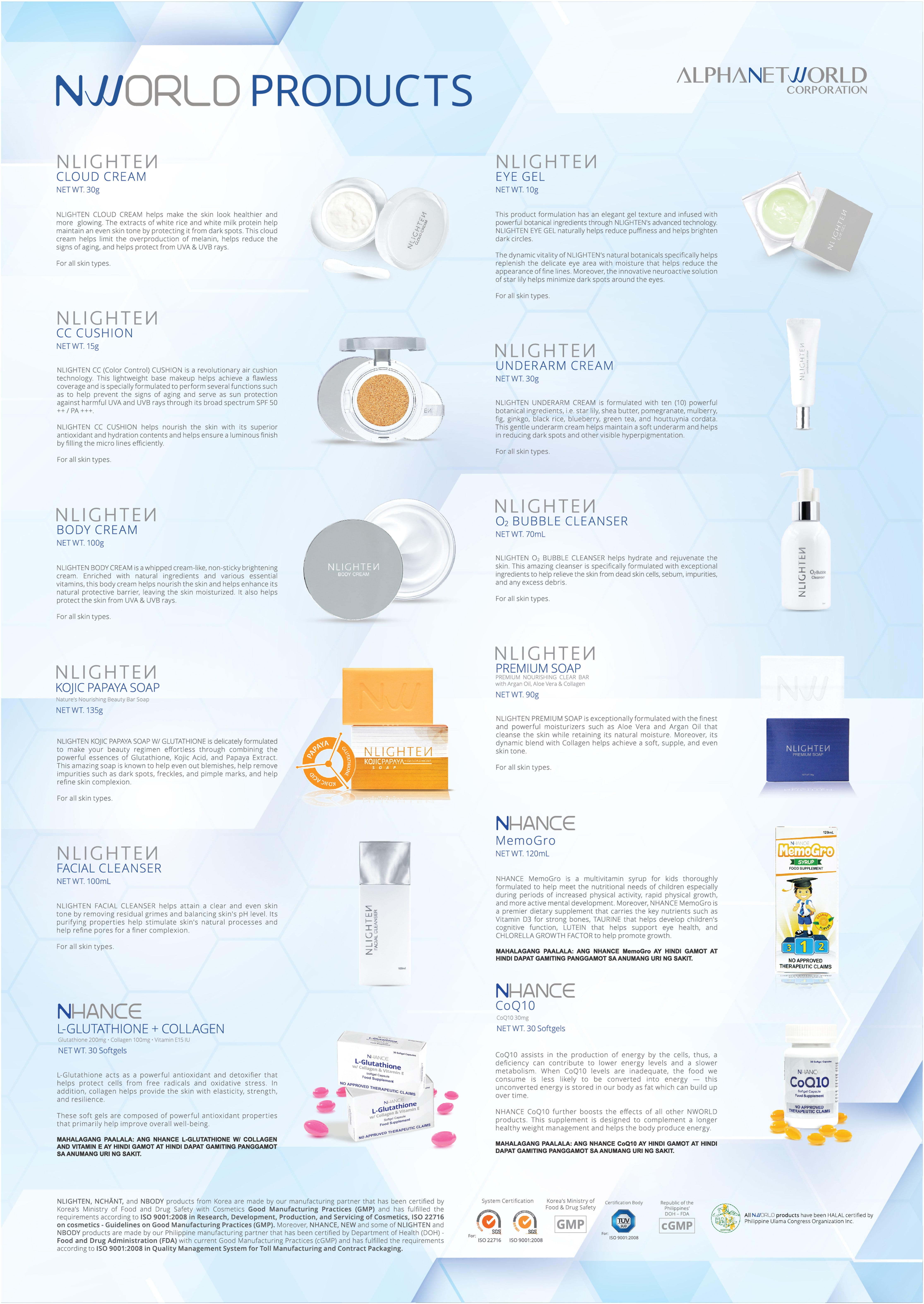 NWORLD PRODUCT BROCHURE