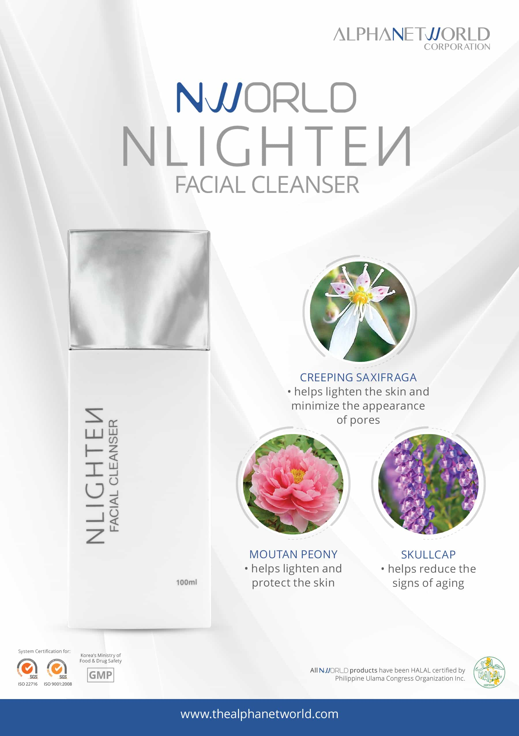 Facial Cleanser - Botanical Poster