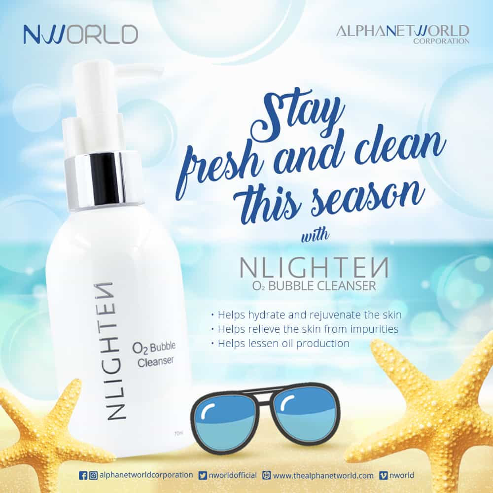 O2 Bubble Cleanser - Summer Poster