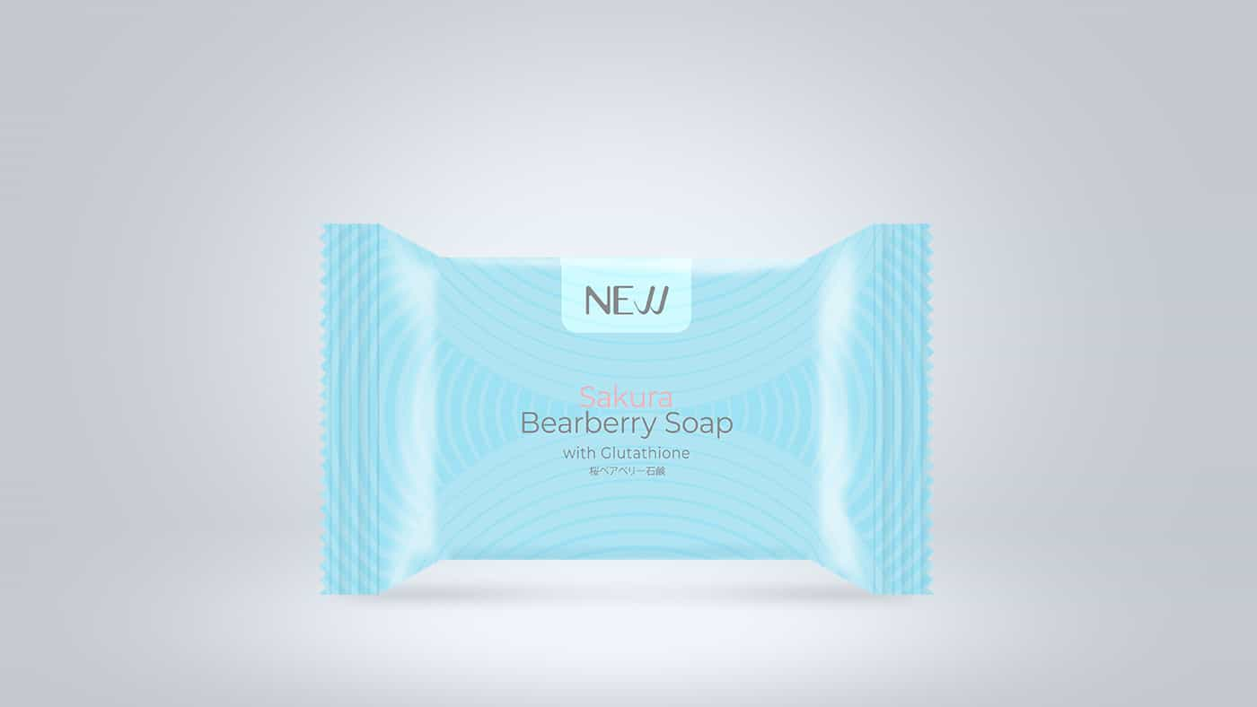 NEW SAKURA BEARBERRY SOAP WITH GLUTATHIONE SOAP